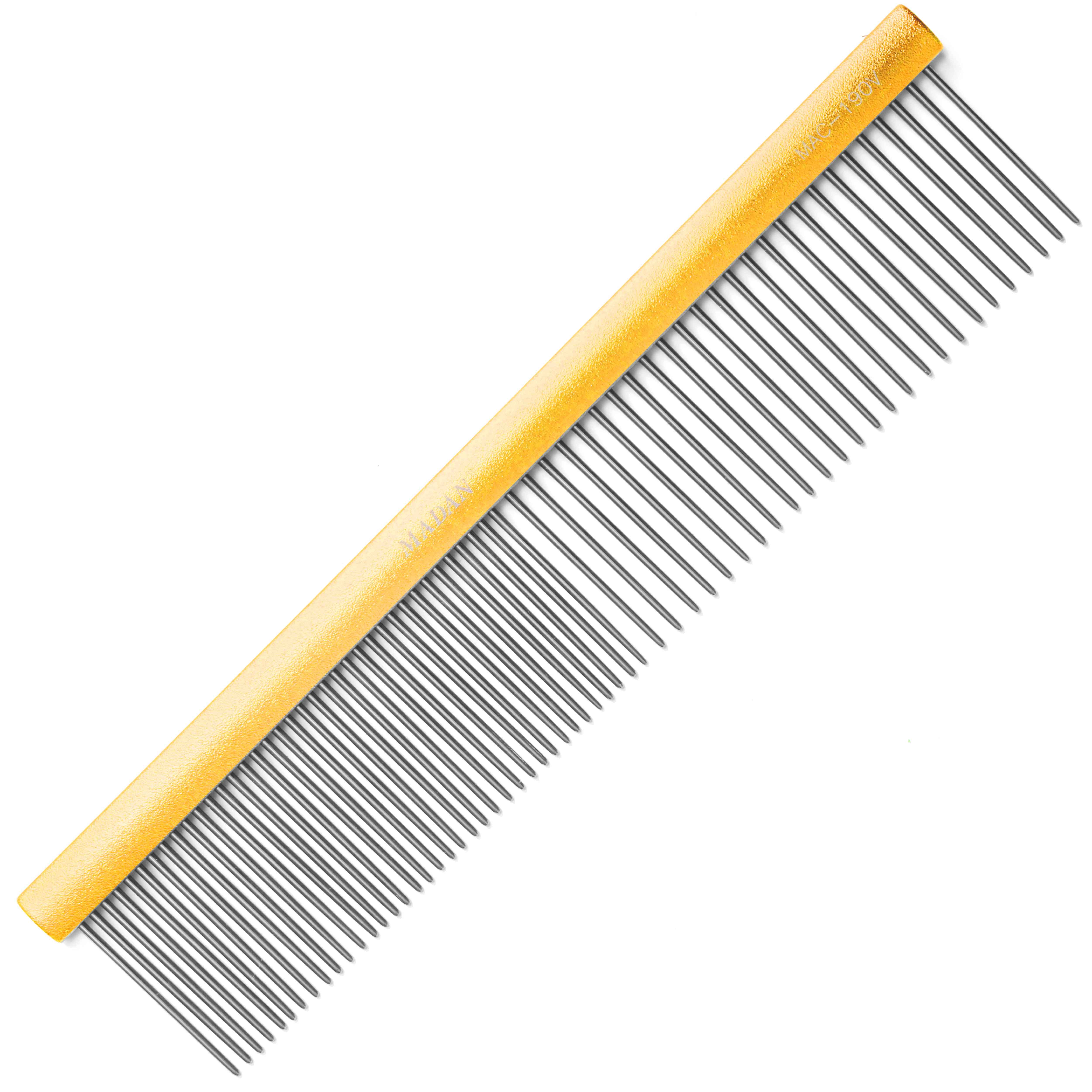 Гребень MADAN COMB MATTED GOLD 7,5""